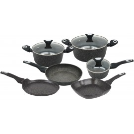 9 pcs marble non-stick cookware set