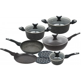 12 pcs marble non-stick cookware set