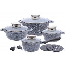 12 pcs casting ceramic marble coating cookware set